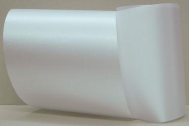 Computerband weiß - uni, ohne Randdekor