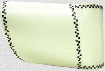 Computerband creme - Efeuranke mini schwarz