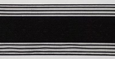 Florband Meander - Tüll schwarz transparent