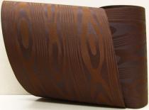 Kranzband-Moiré dunkelbraun - uni, ohne Randdekor