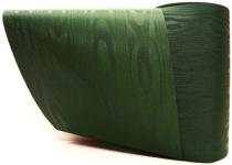 Kranzband-Moiré dunkelgrün - uni, ohne Randdekor