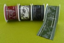 Trauerbandband Efeu - mit Draht