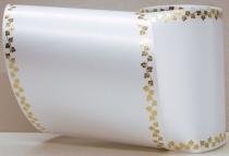 Computerband weiß - Efeuranke mini gold