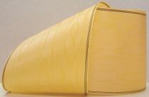 Kranzband-Moiré hellgelb - Goldrand mit schwarzem Faden