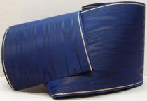 Kranzband-Moiré dunkelblau - Goldrand mit schwarzem Faden