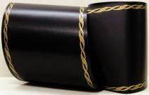 Computerband schwarz - Perlkante gold