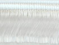 Kranzband-Franse weiß