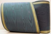 Kranzband-Moiré dunkelmetall - dreistreifiger Goldrand