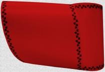 Computerband rot - Efeuranke mini schwarz
