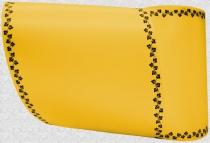 Computerband gelb - Efeuranke mini schwarz