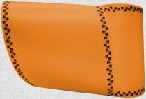 Computerband orange - Efeuranke mini schwarz