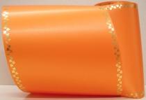 Computerband orange - Efeuranke mini gold