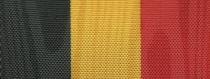 Moiré Nationalband Belgien - Schwarz-Gelb-Rot