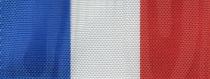 Moiré Nationalband Frankreich / Niederlande - Blau-Weiß-Rot