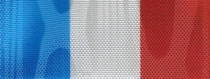 Moiré Nationalband Luxemburg - Mittelblau-Weiß-Rot