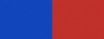 Computer-Nationalband / Vereinsband Blau-Rot